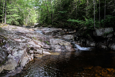 Hiking the Basin-Cascades Trail - Franconia Notch, NH.