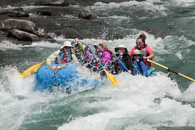 Going through the rapids in John Stevens Canyon. Lots of fun. Lets do more!