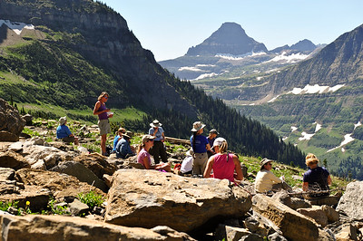 Highland Trail, Haystack Pass. Glacier National Park, Montana.