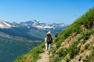 Highland Trail, Logan Pass. Glacier National Park, Montana.