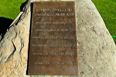Waterton - Glacier International Peace Park.