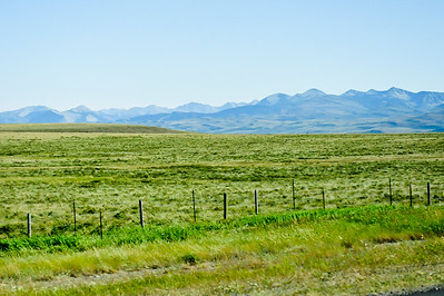 Heading to Glacier Park Lodge.....miles and miles of open farmland.