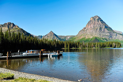 Two Medicine Lake and view of Sinopah Mtn.