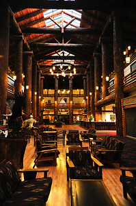 Inside the lodge.
