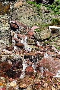 Grinnell Glacier trail. Glacier National Park, Montana.