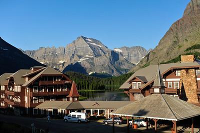 The Many Glaciers Hotel.