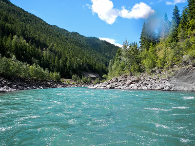 Middle Fork - Flathead River. Glacier National Park, Montana.