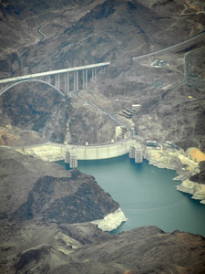 Hoover Dam on the flight into Las Vegas