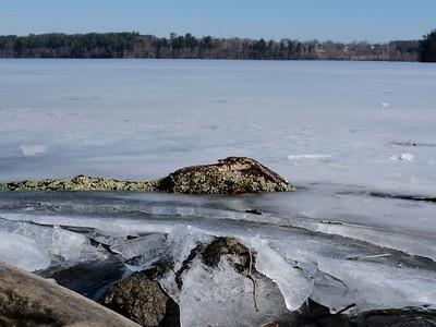 A frozen Lake Cochichewick.