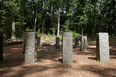 The original site of Thoreau's cabin in the woods.