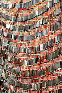 Military dog tags....Veterans Remembrance Memorial - Boston, MA.