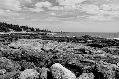 View Atlantic Ocean from East Boothbay, ME.
