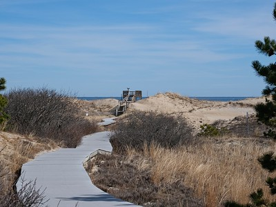 Approaching a view point in the dunes.
