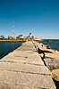 Eastern Point Lighthouse and Dog Bar breakwater - Gloucester,  MA.