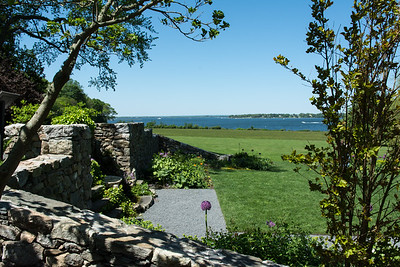 View from the North Garden to Narragansett Bay.