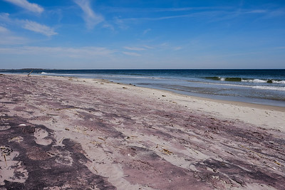 Pink tint washed over the sand.