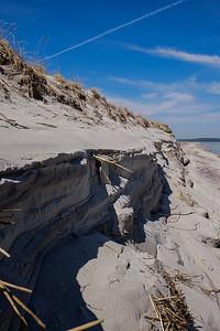 Eroding dunes.