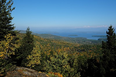 View over Lake Winnipesaukee towards Moultonborough, NH.