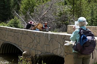 Bridge over the Colorado River at the Coyote Valley Interpretive trail.