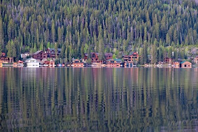 Morning reflections on Grand Lake.