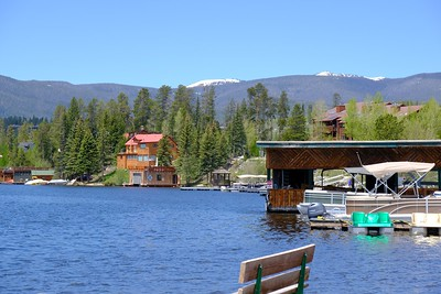 View over Grand Lake to the Mountains beyond.