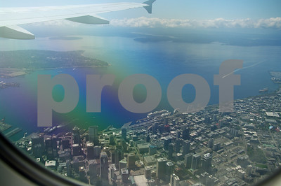 Flying into Seattle