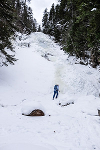 Hiking up Ripley Falls.