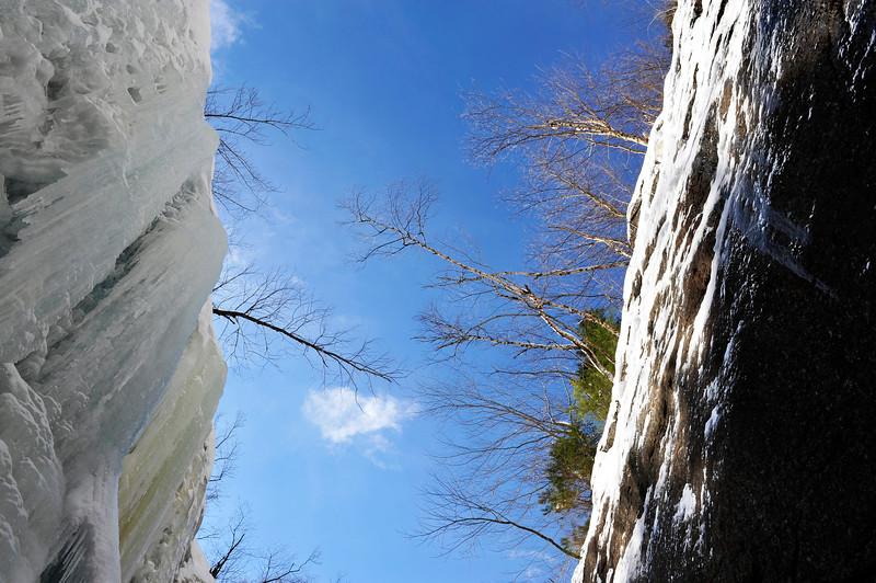 Champney Falls.<br /> Champney Falls Loop Trail - Albany, NH.