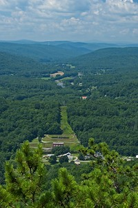 View over the Deerfield River Valley.