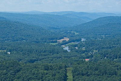 View over the Deerfield River Valley with Mt. Greylock in the distance.