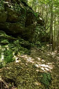 Rock ledges at the Wolves' Den area.