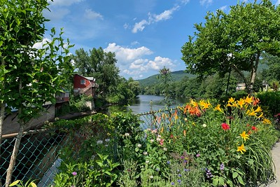 The Bridge of Flowers - Shelburne Falls, MA. In honor of citizens of Buckland and Shelburne who served in the armed forces in WWI and WWII.