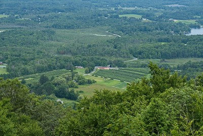 View from the summit overlooking beautiful farmland.
