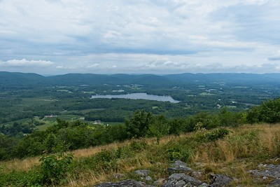 View from the summit of Lenox Mountain, 2126'.