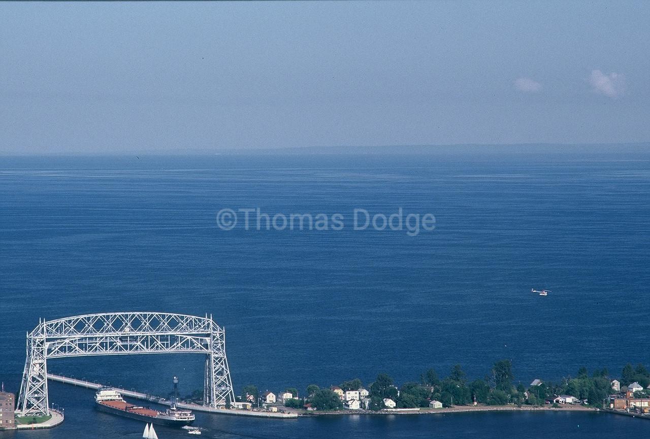 Aerial Lift Bridge, Lake Superior, Duluth, MN.