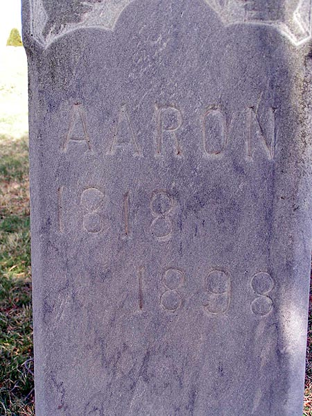 Aaron Freeland, Grave Marker, 1818-1898