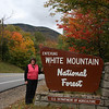 Entering White Mountain National Forest, New Hampsire.<br /> It will be the first of many, many national forests we drive through.