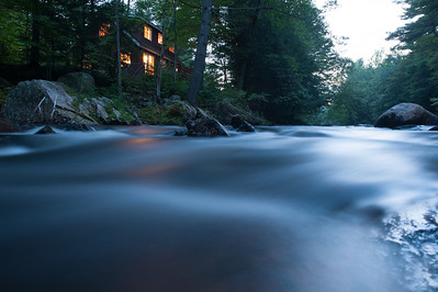 Very nearly level with the Bearcamp River, Friday evening.