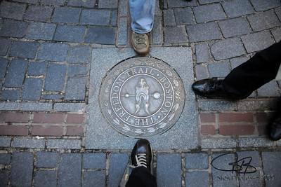 On the Freedom Trail.  Oct. 12, 2009