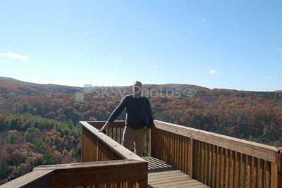 Me at a scenic overlook at Green Ridge State Park in western Maryland