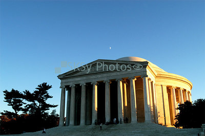 Moon over Jefferson Memorial, October 29, 2006