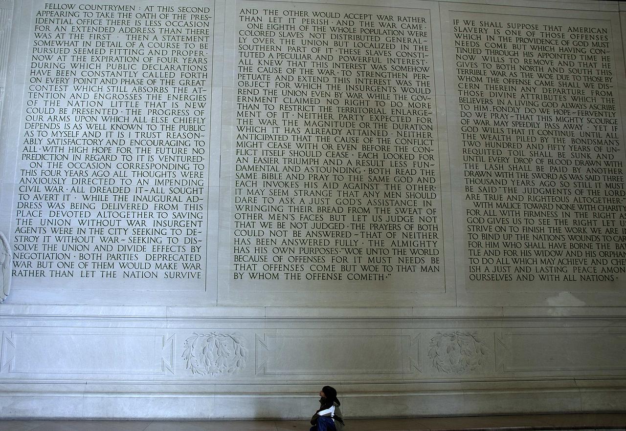Alex reading Lincoln's speach