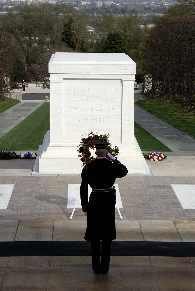 Salute to the unknown soldier