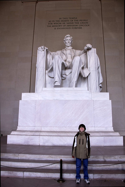 Alex at Lincoln Memorial