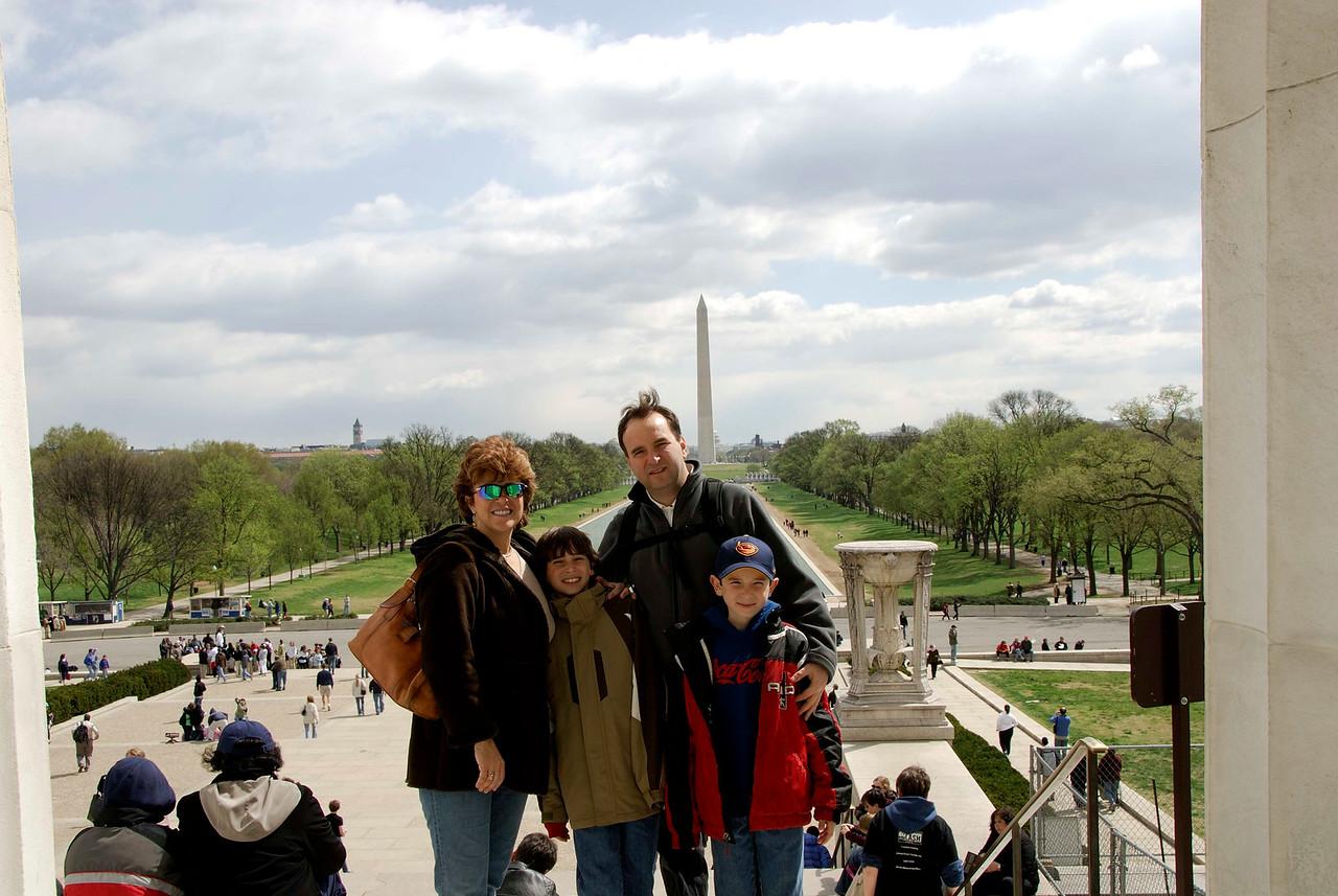 Family at the Washington Mall