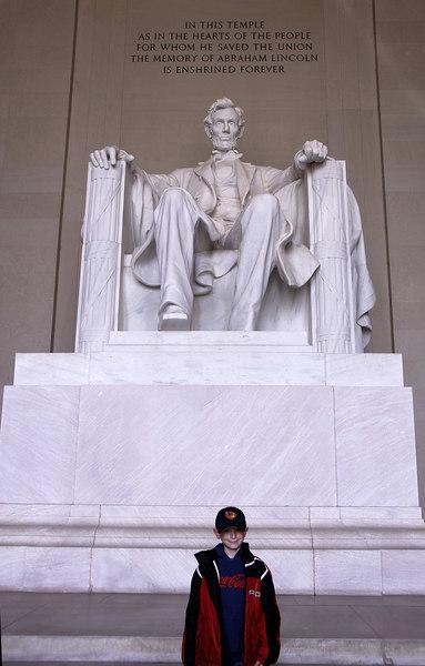 Larry at Lincoln Memorial