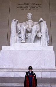Larry at Lincoln Memorial