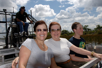 Riding the airboat