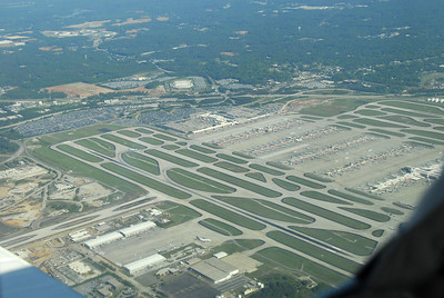 Hartsfiled Airport from 3000 feet