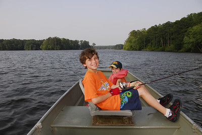 Alex and Larry Fishing